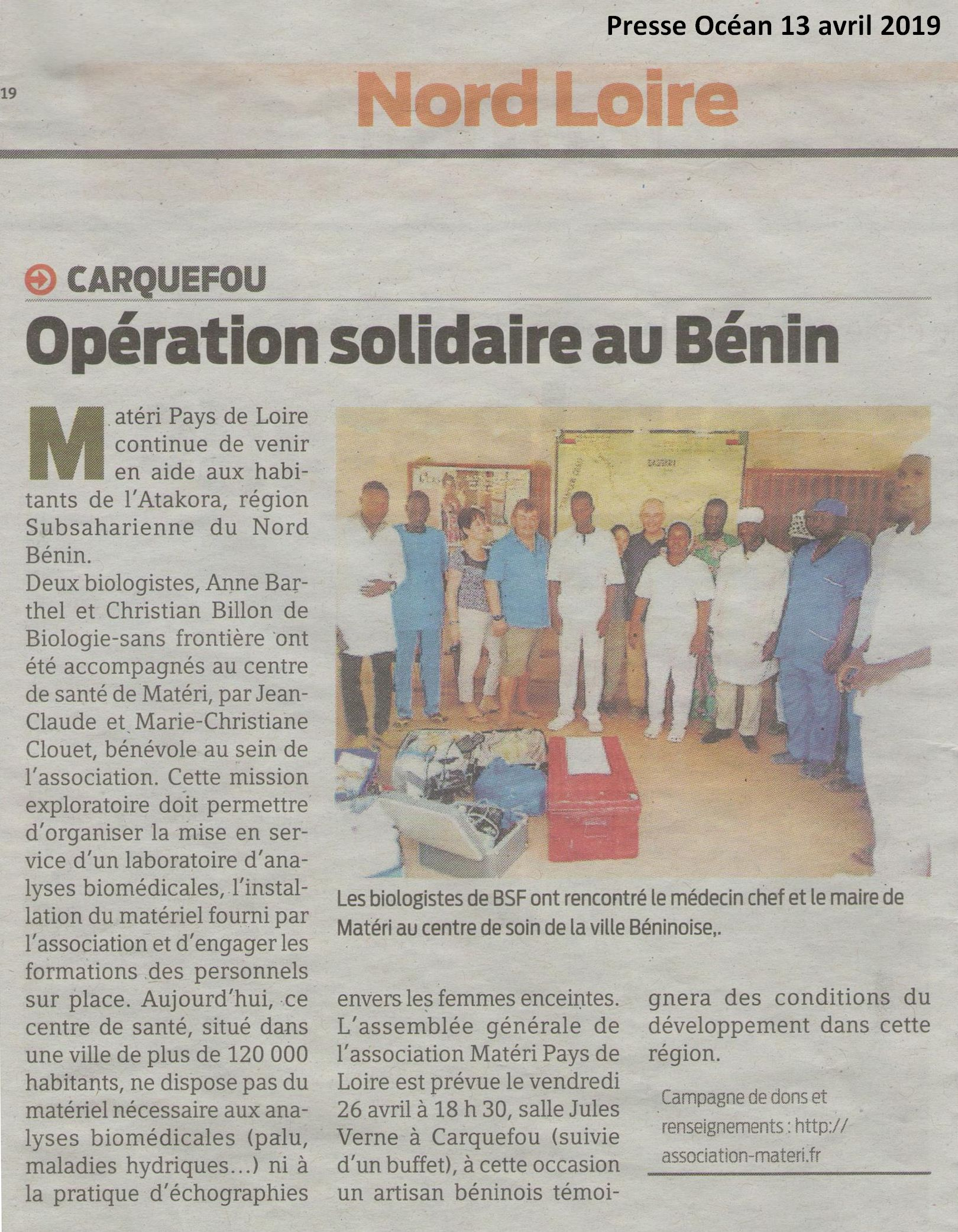 PO 13 avril 2019 Operation Solidaire